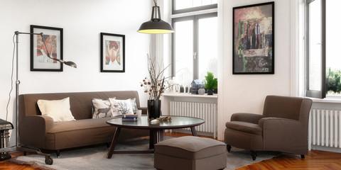 Retro Style Apartment (panoramic)