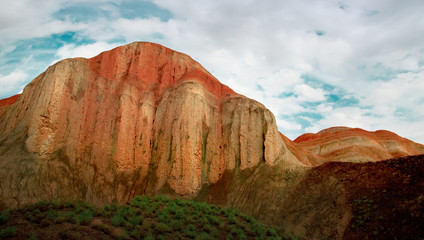 Danxia Geopark landscape in Zhangye, China