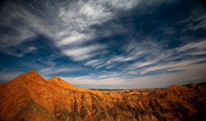scenery of Danxia Landform Geological Park in Zhangye, China