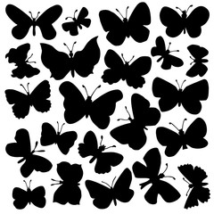 Vector set of butterflies. Stock vector template, easy to use.