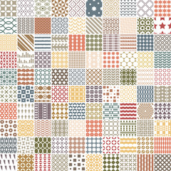 100 retro pattern. Endless texture for wallpaper, fill,  web page background, surface texture.