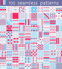 100 Vector Pattern. Endless texture for wallpaper, fill,  web page background, surface texture.