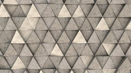 Wzór pryzmatów betonowych trójkąta