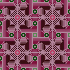 Geometrical color ornament in Aztec style.