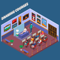 Drawing Courses Isometric Composition