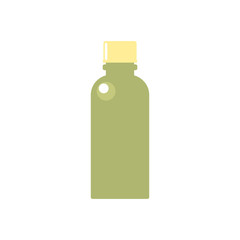Green bottle with yellow cap