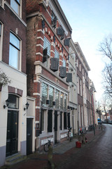 historical houses in the westhaven in the city of Gouda