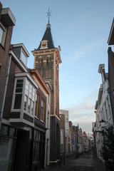 Small churchtower named barberatower in Gouda,Netherlands