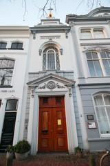 Old small catholic church on the Hoge Gouwe in Gouda, Netherlands