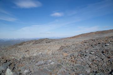 Landscape near Guolasjávri, Norway, summer