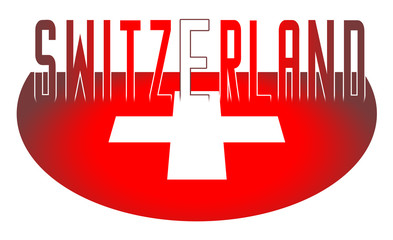 Illustration logo flag of Switzerland official symbols isolated