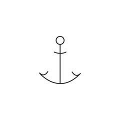 Anchor line vector icon