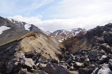 Valley of national park Landmannalaugar,Iceland.