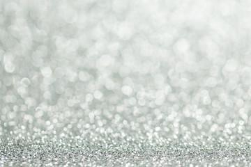 Silver glitter christmas background
