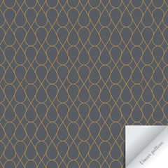 Vector linear geometric pattern. Modern stylish texture. Repeating of geometric tiles with an abstract mesh of drops and diamond shape. pattern is on swathes panel