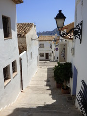 Altea, pueblo turistico de costa de Alicante (España),situado en la comarca de la Marina Baja, en la costa mediterránea al sur de Calpe y al norte de Alfaz del Pi