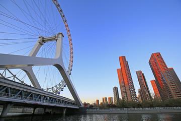 Ferris wheel, in tianjin, China Papier Peint