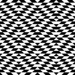 Abstract geometric patern with rhombuses. A seamless vector background. Black and white texture. Graphic modern pattern