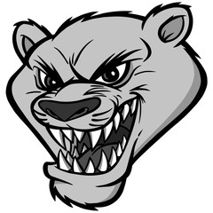 Cougar Mascot Illustration - A vector illustration of a cartoon Cougar Mascot Head.