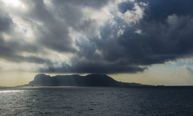 View from ship to Gibraltar