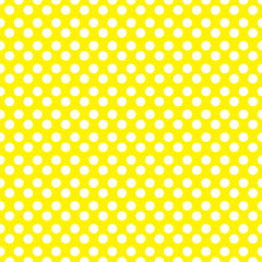 Yellow polka dot seamless pattern. vector.