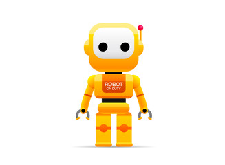 robot technology vector illustration