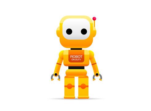 robot technology vector illustration