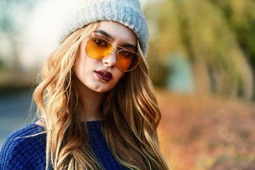 yellow stylish sunglasses