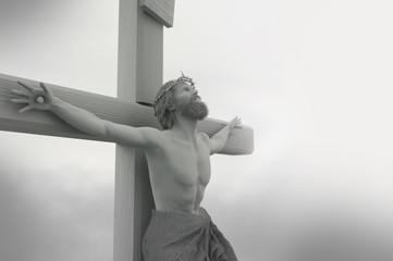 3D Illustration of Jesus Christ on the cross