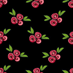 Seamless pattern with floral elements. Vector illustration.