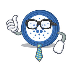 Businessman Cardano coin character cartoon