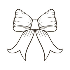 bow tie illustration hand draw