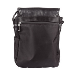 Men Black Shoulder Leather Bag.