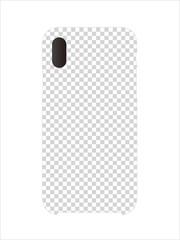 Smartphone case mockup template illustration (cut out frame)
