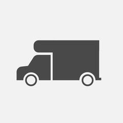 delivery vehicle mini van vector car icon eps10 light gray background for websites. commercials and companies