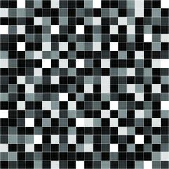 Seamless geometric pixel noise black gray white with line pattern vector illustration