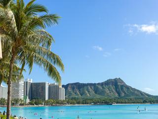 Hawaii Waikiki beach diamond head