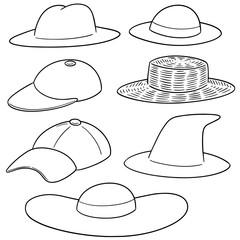 vector set of hat