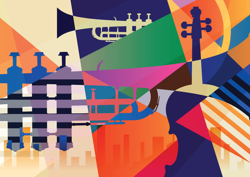Abstract Jazz poster, music background