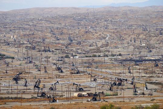 Oil field in Bakersfiled, California