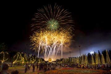 Fireworks celebration at The Royal Park Rajapruek