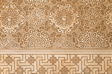 Lacework stucco in Alhambra