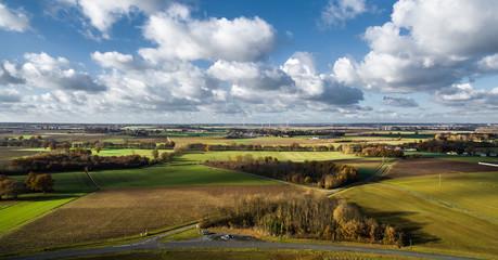 Vue aérienne d'un bocage d'Anjou