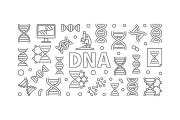 DNA vector science concept horizontal banner