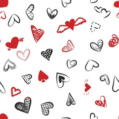 a pattern of hearts for Valentine's day.
