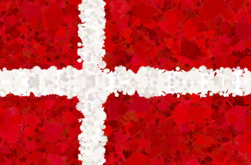 Danish flag with natural motives