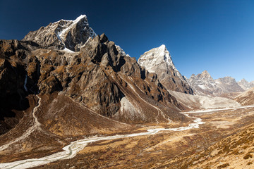 snowy mountains. Nepal, Himalayas