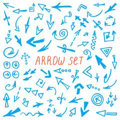 Arrows set, hand drawn arrows set, sketched style