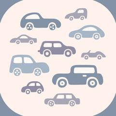 Set of 10 doodle cars.