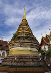Stupa at a Buddhist temple Chiang Mai Thailand